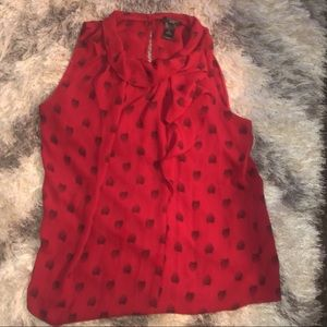 Ann Taylor Red SeaShell Tank